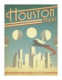 Houston, Texas: Space City Kunstdrucke von  Anderson Design Group