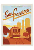 San Francisco, California: The City By The Bay Posters por  Anderson Design Group