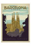 Barcelone, Espagne Affiche par  Anderson Design Group