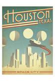 Houston, Texas: Space City Kunstdruck von  Anderson Design Group