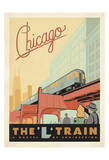 Chicago: The 'L' Train Poster von  Anderson Design Group