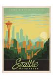 Come Visit Beautiful Seattle, Washington Poster di  Anderson Design Group