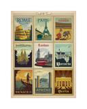 Weltreise, mehrere Drucke I Giclée-Druck von  Anderson Design Group