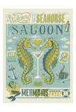 Welcome To The Seahorse Saloon Poster von  Anderson Design Group