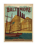 Baltimore, Maryland Posters by  Anderson Design Group