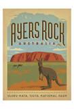 Ayers Rock, Australia Plakater af  Anderson Design Group