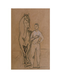 Horse with a Youth in Blue, 1905-6 高画質プリント : パブロ・ピカソ