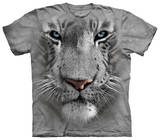 Youth: White Tiger Face T-Shirts