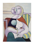La lecture (Woman Reading) Kunstdrucke von Pablo Picasso