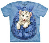 Youth: Backpack White Tiger T-シャツ