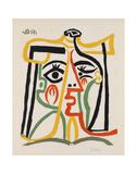 Tete de femme Posters av Pablo Picasso