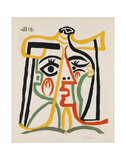 Tete de femme Láminas por Pablo Picasso