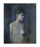 Girl in a Chemise, c. 1905 Plakat av Pablo Picasso