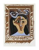 Jacqueline au Chapeau a Fleurs Posters av Pablo Picasso