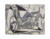 Goat's Skull, Bottle and Candle, 1952 Kunstdrucke von Pablo Picasso