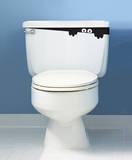 Mostro del WC (sticker murale) Decalcomania da muro