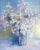 Delphiniums and Daisies Impressão giclée por Genevieve Dolle
