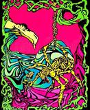 Spider Flower Flocked Blacklight Poster Print Posters