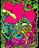 Spider Flower Flocked Blacklight Poster Print Posters