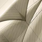 Head Sails of a Schooner Reproduction procédé giclée par Michael Kahn