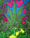 Glow In The Dark Leaf Magic - Opticz Cloth Fabric Poster Posters
