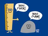 You Rock You Rule Gicléetryck av Todd Goldman