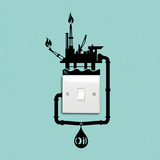 Oil Spill Reminder Autocollant mural par Antoine Tesquier Tedeschi