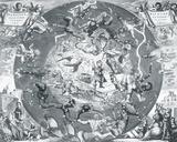 Hemisphae Alis Coeli Sphaeri Grarii Bore et Terre Casceno Phia, 1660 Giclée-Druck von Henricus Hondius