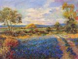 Blue Fields Stampa giclée di  Longo