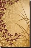 Golden Flourish II Stretched Canvas Print by Edward Aparicio