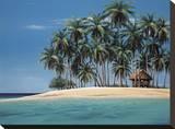 Tiempo en Tiki Reproducción de lámina sobre lienzo por Ron Peters