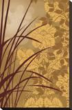 Golden Flourish I Stretched Canvas Print by Edward Aparicio