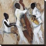 Night of Blues Bedruckte aufgespannte Leinwand von Tat Vila