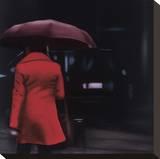 Dame in Rot Bedruckte aufgespannte Leinwand von Xavier Visa