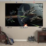 Star Wars Space Battle Mural Decal Sticker Veggmaleri