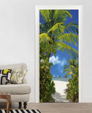Tahiti Door Wallpaper Mural Bildtapet