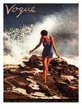 Vogue Cover - June 1937 Impressão giclée premium por Toni Frissell
