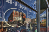 The Window of the Cycles of Life Bike Shop On the Main Street of Leadville Photographic Print by David Hiser