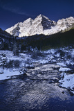 Maroon Creek Below Maroon Peaks in Early Winter Photographic Print by David Hiser