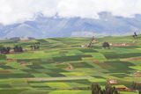 A Patchwork Landscape of Fields Outside the Town of Chinchero Photographic Print by Kent Kobersteen