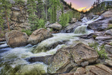 High Water On the Roaring Fork River During Spring Runoff At Sunrise Photographic Print by David Hiser