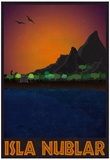Isla Nublar Retro Travel Poster Poster