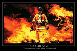 Courage Motivational Poster Stampe