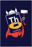 Thorium Element Snorg Tees Poster Láminas