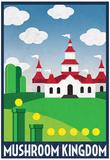 Mushroom Kingdom Retro Travel Poster Plakat