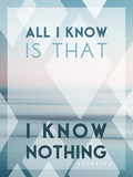 All I Know Is I Know Nothing Kunst von Lee Frost