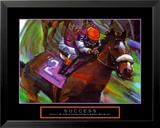 Success: Horse Race Jockey Print by Bill Hall