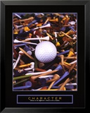 Character: Golf Tees Poster by Bruce Curtis