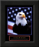 Courage: Eagle and Flag Pósters