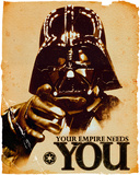Star Wars Vader Needs You Affiches